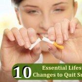 10 changements de style de vie essentielles à cesser de fumer - obtenir positif