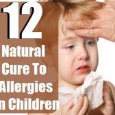 12 remède naturel pour les allergies chez les enfants