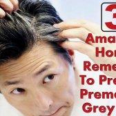 3 remèdes maison étonnants pour empêcher prématurée des cheveux gris