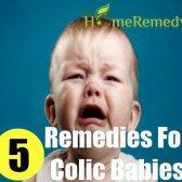 5 meilleurs remèdes pour bébés coliques