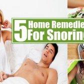 5 remèdes maison pour le ronflement