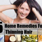 5 Accueil recours pour l'amincissement des cheveux