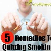 5 remèdes maison merveilleux pour cesser de fumer