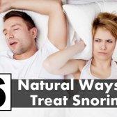 6 moyens naturels pour traiter le ronflement