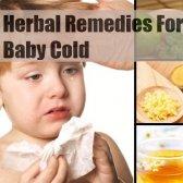 7 remèdes naturels pour bébé froide