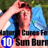 Top 10 des remèdes naturels pour la brûlure du soleil