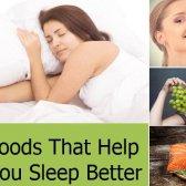 Top 8 des aliments qui vous aident à mieux dormir