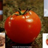 Tomate piquante et chutney de noix de coco