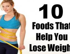10 aliments qui vous aident à perdre du poids