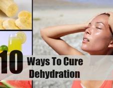 10 façons de guérir la déshydratation
