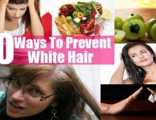 10 façons de prévenir les cheveux blancs