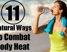 11 façons naturelles pour lutter contre la chaleur du corps