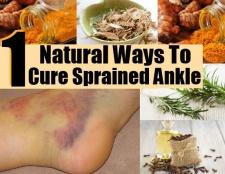 11 façons naturelles pour guérir entorse à la cheville