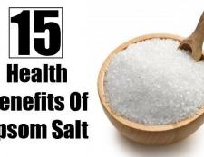 15 Les prestations de santé de sel d'Epsom