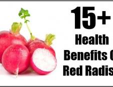 15+ prestations de santé de radis rouge