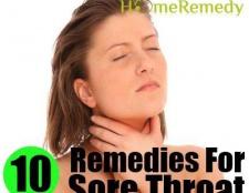 10 Accueil recours pour les maux de gorge