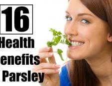 16 prestations de santé étonnants du persil