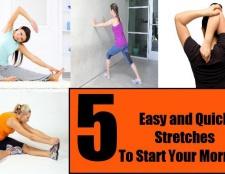 5 tronçons facile et rapide pour commencer votre matin