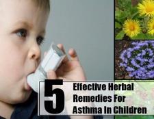 5 remèdes efficaces pour l'asthme chez les enfants