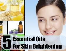 5 huiles essentielles pour l'éclaircissement de la peau
