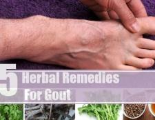 5 remèdes à base de plantes pour la goutte