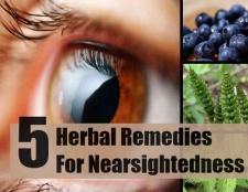 5 remèdes à base de plantes pour la myopie