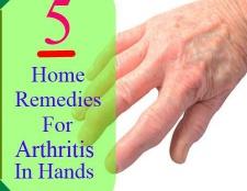 5 Accueil recours pour l'arthrite dans les mains