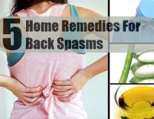 5 Accueil recours pour les spasmes au dos