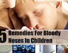 5 Accueil recours pour les saignements de nez chez les enfants