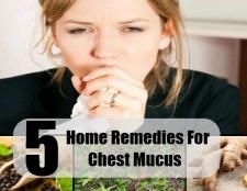 5 remèdes maison pour la poitrine de mucus