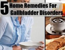 5 Accueil remèdes pour les troubles de la vésicule biliaire
