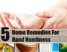 5 Accueil recours pour l'engourdissement de la main