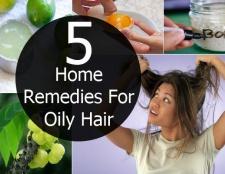 5 Accueil recours pour les cheveux gras