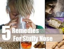 5 Accueil recours pour le nez bouché