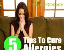 5 remèdes naturels allergie à la maison