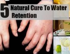 5 remède naturel pour la rétention d'eau