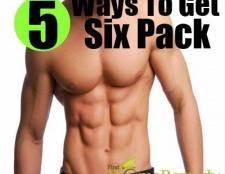 5 façons rapides pour obtenir six pack