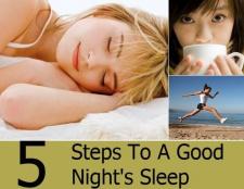 5 étapes pour un sommeil de bonne nuit