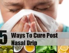 5 façons de guérir après écoulement nasal