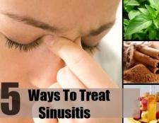 5 façons de traiter la sinusite