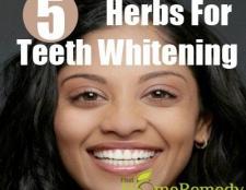 5 herbes merveilleux pour le blanchiment des dents
