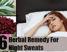 6 remède à base de plantes pour les sueurs nocturnes
