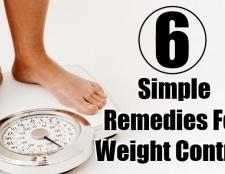 6 Des remèdes simples pour le contrôle du poids