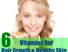 6 vitamines qui favorisent la croissance des cheveux et une peau saine