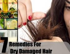 7 Accueil recours pour les cheveux abîmés sec