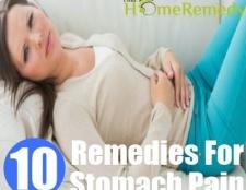 7 Accueil recours pour les douleurs à l'estomac