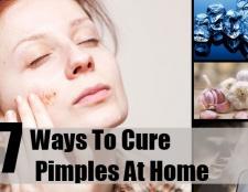 7 façons de guérir les boutons à la maison
