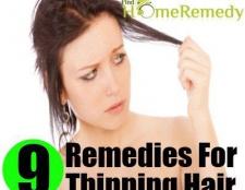 9 remèdes différents pour l'amincissement des cheveux