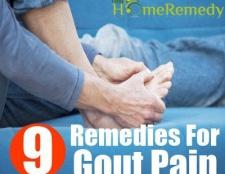 9 Accueil recours pour la douleur de la goutte