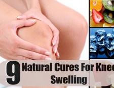 9 remèdes naturels précieux de gonflement du genou